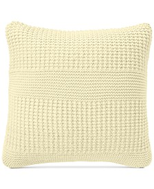 """CLOSEOUT! Multi-Knit 20"""" Square Decorative Pillow, Created for Macy's"""