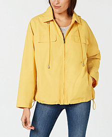 Style & Co Cropped Water-Resistant Anorak Jacket, Created for Macy's