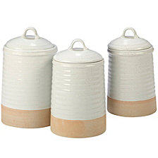 Certified International Artisan 3-Pc. Canister Set