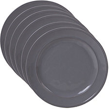 Certified International Orbit Solid Color - Grey 6-Pc. Dinner Plate