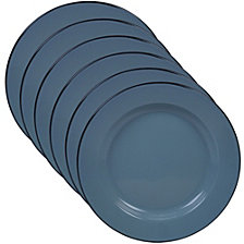 Certified International Enamelware - Teal 6-Pc. Dinner Plate
