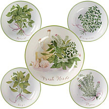 Certified International Fresh Herbs 5-Pc. Pasta Sets