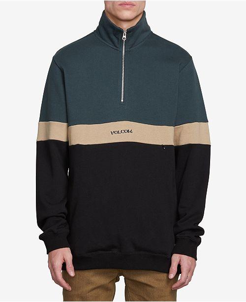 Polo Sweatshirts amp; Hoodies Zip Men's Volcom Rainer Half Sweatshirt 41nFq