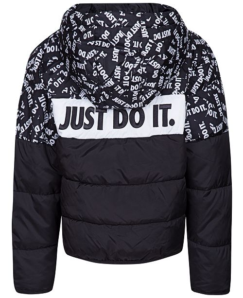 8a9f956f9 Nike Toddler Boys Oversized Colorblocked Puffer Jacket   Reviews ...