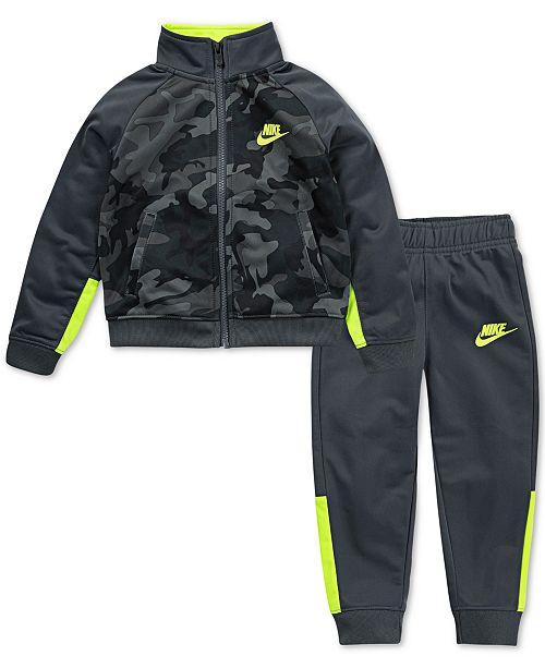 f9bfd611b Nike Little Boys 2-Pc. Camo Colorblocked Track Jacket & Pants Set ...