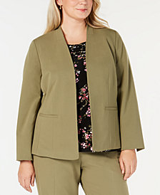 Nine West Plus Size Open Front Blazer