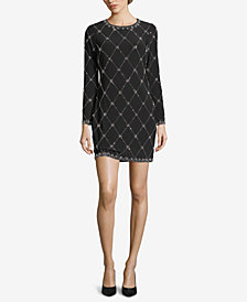 Betsy & Adam Petite Beaded Shift Dress