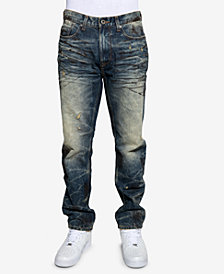 Sean John Men's Volcano Slim-Fit Stretch Destroyed Jeans