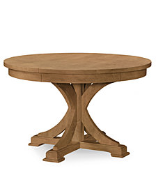 Rachael Ray Everyday Dining Round to Oval Pedestal Table