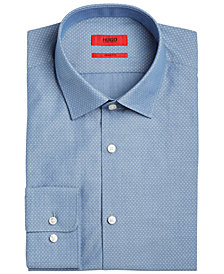 Hugo Boss Men's Slim-Fit Navy Dobby Dress Shirt