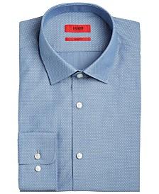 Hugo Boss Men's Slim-Fit Navy Dobby Dress Shirt