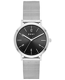 DKNY Women's Minetta Stainless Steel Mesh Bracelet Watch 36mm, Created For Macy's