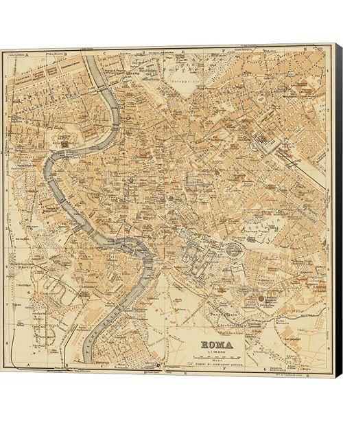 Metaverse Mapa Di Roma, 1898 by Lorenzo Fiore Canvas Art