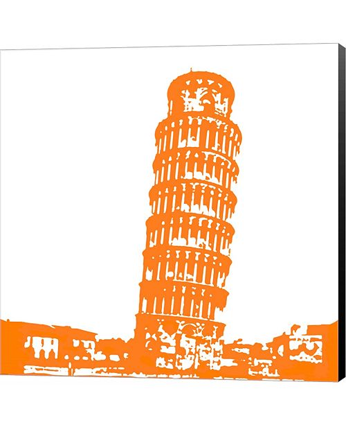 Metaverse Pisa in Orange by Veruca Salt Canvas Art