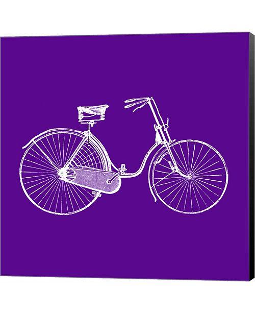 Metaverse Purple Bicycle by Veruca Salt Canvas Art