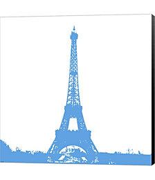 Blue Eiffel Tower by Veruca Salt Canvas Art