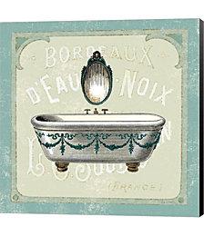 Parisian Bath I by Sue Schlabach Canvas Art
