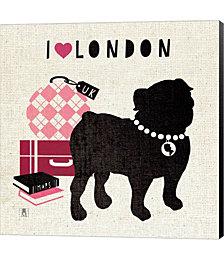 London Pooch by Studio Mousseau Canvas Art