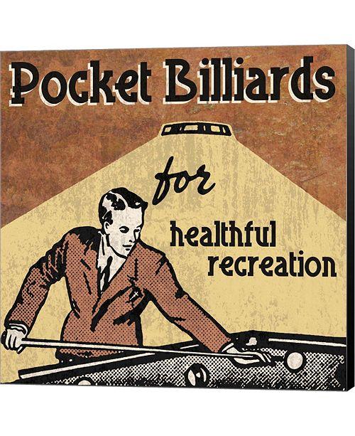 Metaverse Pocket Billiards by Erin Clark Canvas Art
