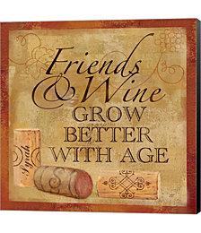 Wine Cork Sentiment IV by Tre Sorelle Studios Canvas Art