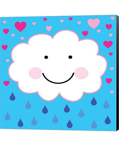 Metaverse Rain Cloud 1 by Louise Carey Canvas Art