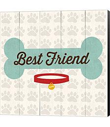 Best Friend - Bone by Louise Carey Canvas Art