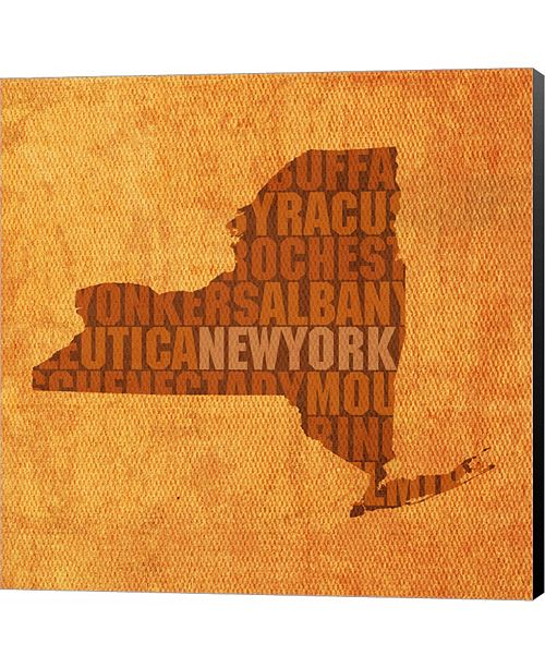 Metaverse New York State Words by David Bowman Canvas Art