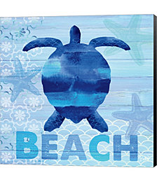 Sea Glass Turtle by Michael Harrison Canvas Art