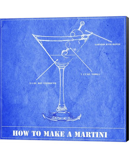 Metaverse How to Make a Martini by Melanie Parker Canvas Art