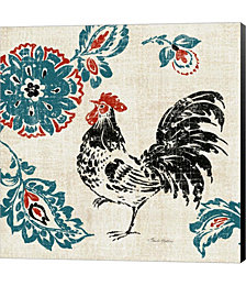 Toile Rooster II by Tara Reed Canvas Art