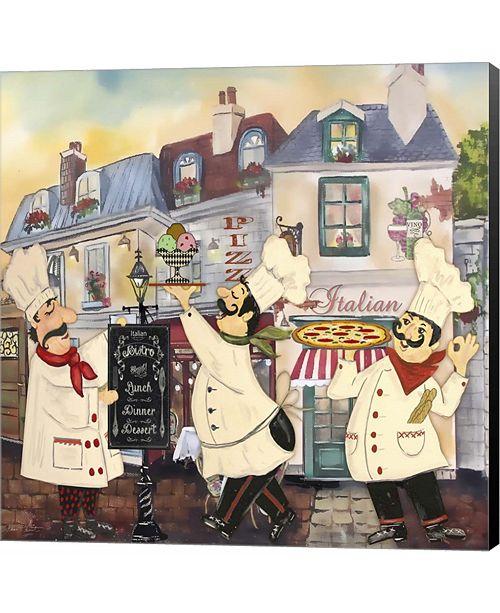 Metaverse Italian Chefs II by Jean Plout Canvas Art