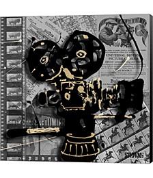 Movie Camera 1 by Roderick E. Stevens Canvas Art