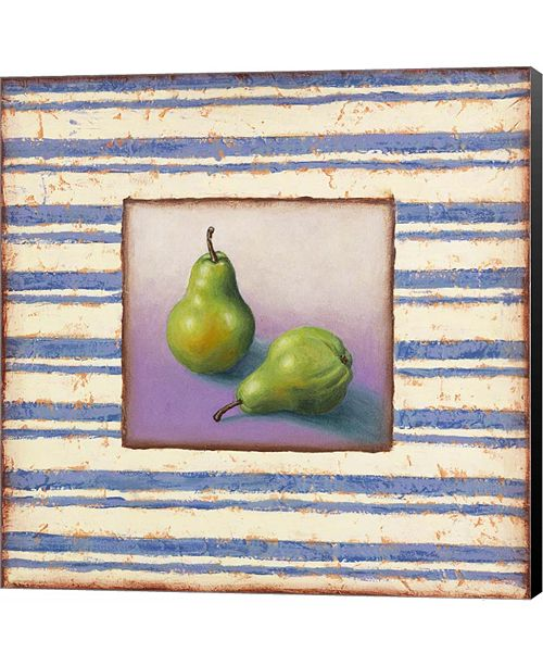 Metaverse Pears and Stripes by Rachel Paxton Canvas Art