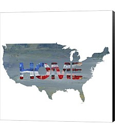 America Home by Pamela J. Wingard Canvas Art