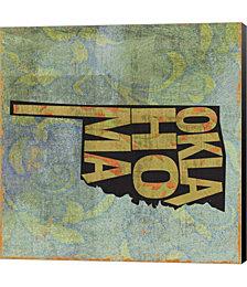 Oklahoma on Pattern by Art Licensing Studio Canvas Art