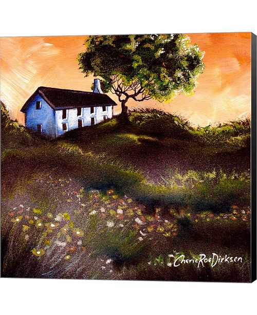 Metaverse House in The Fields 2 by Cheryl Bartley Canvas Art