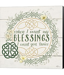 Irish Blessing II by Janelle Penner Canvas Art