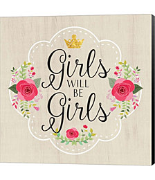 Girls Will Be Girls by Tammy Apple Canvas Art