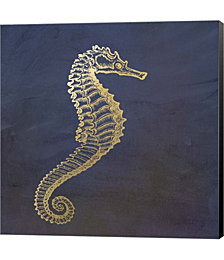 Golden Seahorse by Ramona Murdock Canvas Art