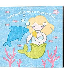 Magical Mermaid IV by Moira Hershey Canvas Art