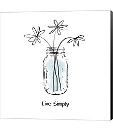Live Simply by Linda Woods Canvas Art