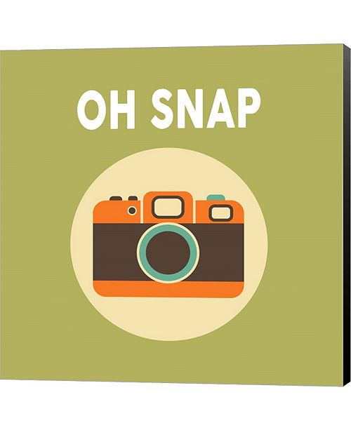 Metaverse OH SNAP Camera Green by Color Me Happy Canvas Art