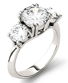 Moissanite Round Three Stone Ring (3-1/10 ct. tw.) in 14k White Gold