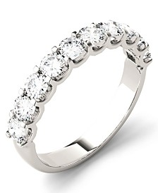 Moissanite Round Anniversary Band (1 ct. t.w. Diamond Equivalent) in 14k White Gold