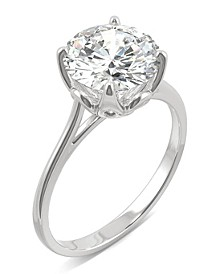 Moissanite Round Solitaire Ring (2-3/4 ct. tw. Diamond Equivalent) in 14k White Gold