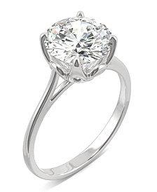 Moissanite Round Solitaire Ring (2-3/4 ct. tw.) in 14k White Gold