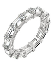 Moissanite Emerald Eternity Band (3-3/4 ct. tw.) in 14k White Gold