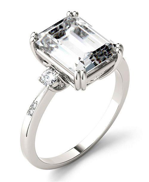 Charles & Colvard Moissanite Emerald Engagement Ring (3-3/4 ct. tw.) in 14k White Gold