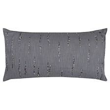 """Rizzy Home 14"""" x 26"""" Textured with Beaded Accents Poly Filled Pillow"""