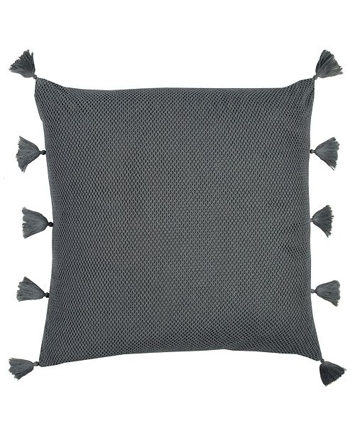 """Rizzy Home Solid 22"""" x 22"""" Textured Poly Filled Pillow"""